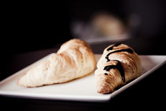 Verse croissant royalty-vrije stock afbeelding