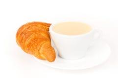 Verse Croissant en koffie Stock Foto