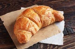 Verse croissantclose-up Royalty-vrije Stock Afbeeldingen