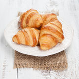 Verse croissants Royalty-vrije Stock Foto's
