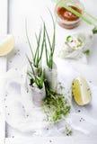 Verse de lentebroodjes op een witte achtergrond Royalty-vrije Stock Afbeeldingen