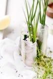 Verse de lentebroodjes op een witte achtergrond Stock Foto