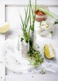 Verse de lentebroodjes op een witte achtergrond Stock Fotografie