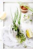 Verse de lentebroodjes op een witte achtergrond Royalty-vrije Stock Afbeelding