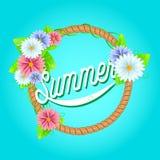 Verse de zomerachtergrond vector illustratie