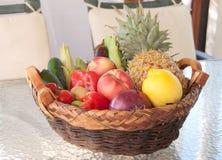Verse de zomervruchten en groenten Stock Foto