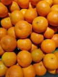 Verse die Sinaasappel van landbouwbedrijven in de markt, supermarkten worden verkocht stock fotografie