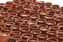 Verse die smoothie met van het de amandelmelk en havermeel van de banaanmeloen vlokken met noten in Matka, Doubai, de V.A.E OP 21 stock foto's