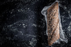 Verse donkere baguette Stock Foto's