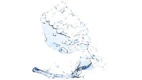 Verse duidelijke water unieke plons stock foto