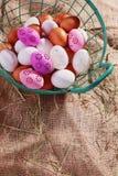 Verse eieren royalty-vrije stock afbeeldingen