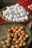 Verse eieren bij lokale Birmaanse markt Royalty-vrije Stock Fotografie