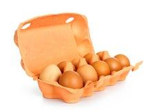 Verse eieren in kartondoos Royalty-vrije Stock Afbeelding