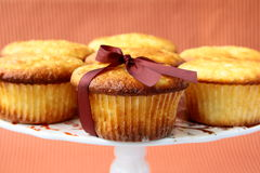 Verse eigengemaakte cupcake om zich te bevinden Stock Foto