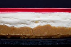 Verse eigengemaakte kaastaart met roze gelei Royalty-vrije Stock Afbeeldingen