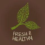 Verse en gezonde groentenillustratie Stock Foto's