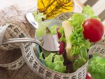 Verse en gezonde salade, dieetconcept Stock Foto's