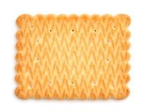 Verse en knapperige crackers op wit Royalty-vrije Stock Foto