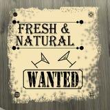 Verse en natuurlijke gewilde affiche Royalty-vrije Stock Foto