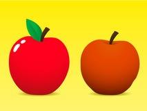 Verse en oude appel Royalty-vrije Stock Afbeelding