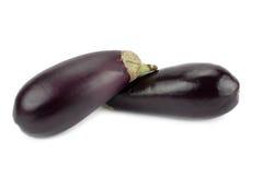 Verse en rijpe aubergine Royalty-vrije Stock Foto