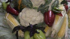 Verse en rijpe groenten stock videobeelden
