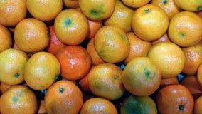 Verse en sappige mandarijnen royalty-vrije stock afbeelding