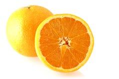 Verse en sappige sinaasappel stock foto