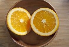 Verse en sappige sinaasappelen Royalty-vrije Stock Afbeelding