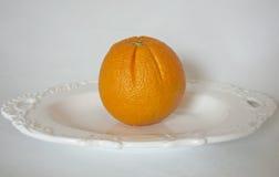 Verse en sappige sinaasappelen Royalty-vrije Stock Afbeeldingen