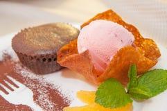 Verse en smakelijke muffin royalty-vrije stock fotografie