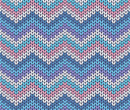 Verse Etnische de Winter Gebreide Abstracte Zigzag Royalty-vrije Stock Afbeeldingen