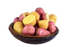 Verse geïsoleerde aardappels Stock Afbeelding