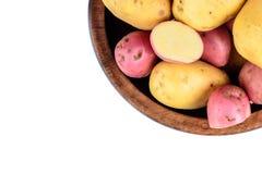 Verse geïsoleerde aardappels Royalty-vrije Stock Fotografie
