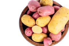 Verse geïsoleerde aardappels Royalty-vrije Stock Afbeeldingen