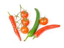 Verse geïsoleerde groenten Stock Foto