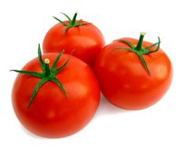 Verse geïsoleerdeh tomaat Royalty-vrije Stock Foto's