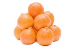 Verse geïsoleerdes mandarijnen Royalty-vrije Stock Foto's
