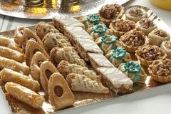 Verse gebakken Marokkaanse koekjes Stock Afbeeldingen