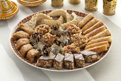 Verse gebakken Marokkaanse koekjes Stock Fotografie