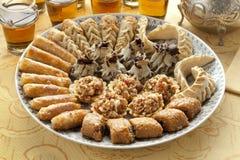 Verse gebakken Marokkaanse koekjes Royalty-vrije Stock Foto
