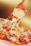Verse gebakken pizza Stock Fotografie