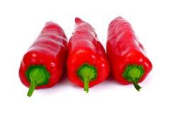 Verse Geel, de Rode Groene paprika van OraFresh Isolatednge, Rode Klokpe Stock Afbeeldingen