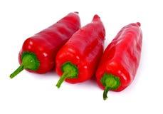 Verse Geel, de Rode Groene paprika van OraFresh Isolatednge, Rode Klokpe Stock Afbeelding