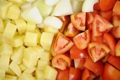 Verse gehakte groenten Stock Afbeeldingen