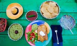 Verse gekookte Mexicaanse heerlijke maaltijd royalty-vrije stock afbeelding