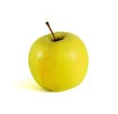 Verse gele appel op een witte achtergrond Stock Afbeelding