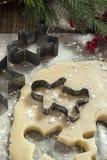 Verse gemaakte Kerstmiskoekjes Stock Foto's