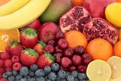 Verse Gemengde Fruitachtergrond stock afbeeldingen