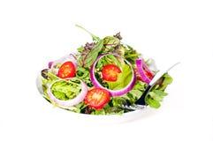 Verse gemengde salade met uien Royalty-vrije Stock Afbeeldingen